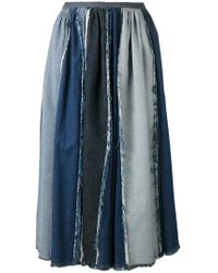 Antonio Marras - Contrast Pleated Skirt - Lyst