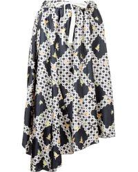 Astraet - Lattice Print Skirt - Lyst