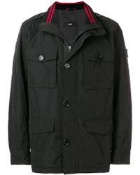 BOSS - Buttoned Coat - Lyst