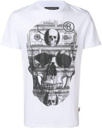 Philipp Plein - Crystal Embellished Skull T-shirt - Lyst