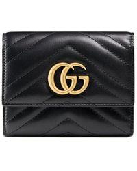 Gucci GG マーモント 財布 - ブラック