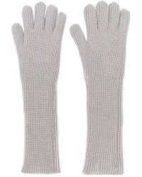 Fabiana Filippi - Ribbed Knit Gloves - Lyst
