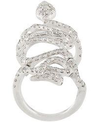 Loree Rodkin - 18kt White Gold And Diamond Snake Ring - Lyst
