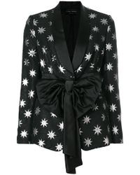 Christian Pellizzari - Star Embellished Bow Tie Blazer - Lyst
