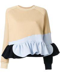 Ioana Ciolacu - Frilled Colour Block Sweatshirt - Lyst