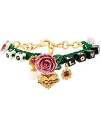 Dolce & Gabbana - Flower And Dice Charm Bracelet - Lyst