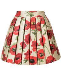 Alice + Olivia | Floral Metallic Skirt | Lyst
