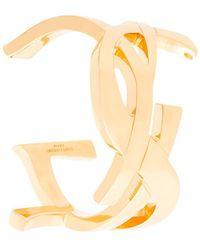 Saint Laurent   Monogram Cuff   Lyst