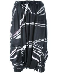 Y-3 - Drop Crotch Printed Shorts - Lyst