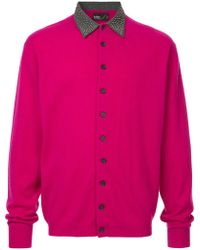Kolor - Studded Collar Knitted Shirt - Lyst