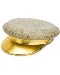 Manokhi - Metallic Brim Baker Boy Hat - Lyst