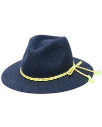 Maison Michel - Rope Trim Fedora Hat - Lyst