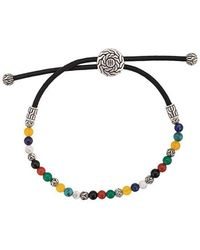John Hardy - Silver Classic Chain Mixed Stone Bead Pull Through Bracelet - Lyst