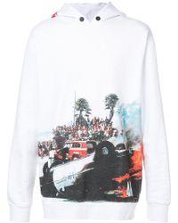 Palm Angels - Kapuzenpullover mit Print - Lyst