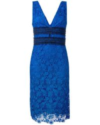 Diane von Furstenberg - Floral Lace Midi Dress - Lyst