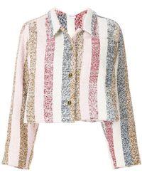 Thom Browne - Bow Collar Striped Jacket - Lyst