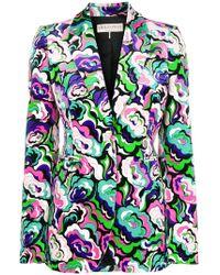 Emilio Pucci - Colour-block Floral Blazer - Lyst