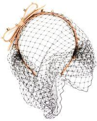 RED Valentino - Embellished Net Hairband - Lyst