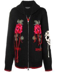 Alexander McQueen - Loose Thread Knitted Cardigan - Lyst