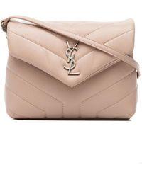 Saint Laurent - Pink Loulou Monogram Mini Bag - Lyst