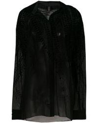 Alexandre Vauthier - Velvet Detail Shirt - Lyst