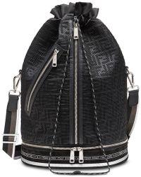 26f20d1a151 Sac a dos noir et blanc Bag Bugs. 1 490 €. SSENSE · Fendi - Sac seau Mon  Trésor à motif monogrammé - Lyst