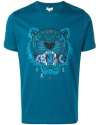KENZO - Embroidered Tiger T-shirt - Lyst