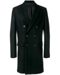 AMI - Double Breasted Coat - Lyst