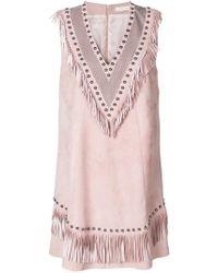 DROMe - Fringed V-neck Dress - Lyst