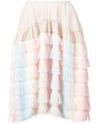Jourden - Fringed Rainbow Skirt - Lyst