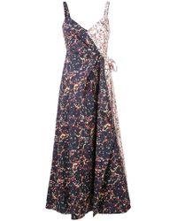 Rosie Assoulin - Splash Print Wrap Dress - Lyst