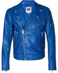 Les Hommes - Zipped Biker Jacket - Lyst
