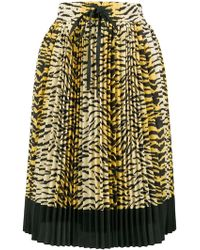 RED Valentino - Pleated Leopard Skirt - Lyst
