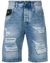 5967605594f8 Lyst - Stampd Distressed Denim Shorts in Black for Men