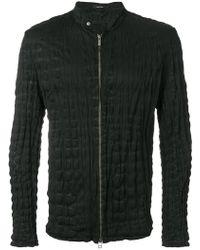 Issey Miyake - Crinkled Zip-up Jacket - Lyst