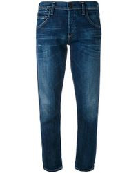 Citizens of Humanity - Jeans taglio straight crop - Lyst