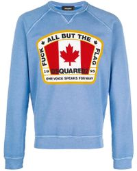 DSquared² - Canadian Flag Patch Sweatshirt - Lyst