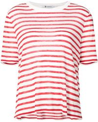 T By Alexander Wang - Striped T-shirt - Lyst