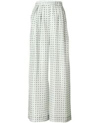 Christian Wijnants - Patterned Palazzo Trousers - Lyst