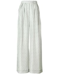 Christian Wijnants - Patterend Palazzo Trousers - Lyst