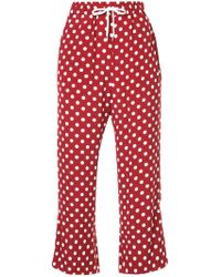 G.v.g.v - Polka Dot Drawstring Cropped Trousers - Lyst