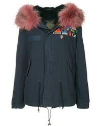 Mr & Mrs Italy - Embroidered Hooded Parka Coat - Lyst