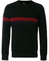 N°21 - Stripe Detail Knitted Sweater - Lyst