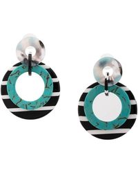Lele Sadoughi - Double Ring Hoop Earrings - Lyst