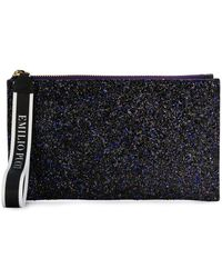 Emilio Pucci - Top Zip Glittered Clutch - Lyst