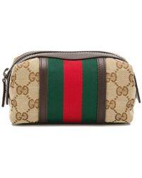 Gucci - GG Supreme Web Cosmetic Case - Lyst