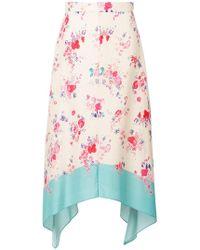 Vilshenko - Asymmetric Floral Skirt - Lyst