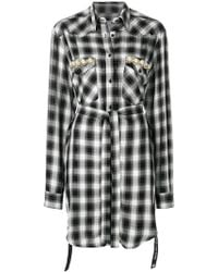 Forte Couture - Tartan Belted Coat - Lyst