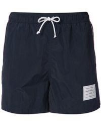 Thom Browne - Signature Stripes Swim Shorts - Lyst