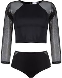 Brigitte Bardot - Cropped Top And Hot Pants Set - Lyst